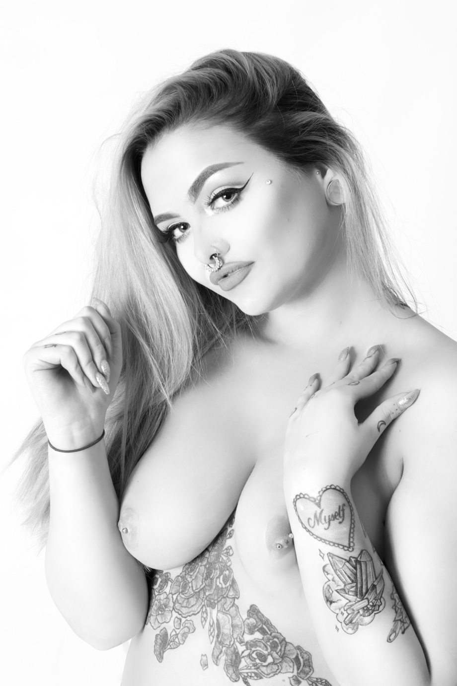 Katie Kitten, alternative glamour model, Cork, topless