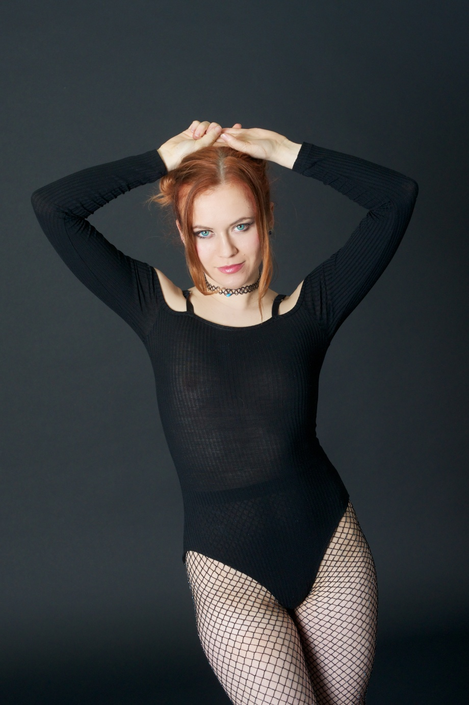 Roksi, Applecore, Cork, Model, Studio, Photoshoot, Glamour, Portrait, red hair, topless, implied, see thru