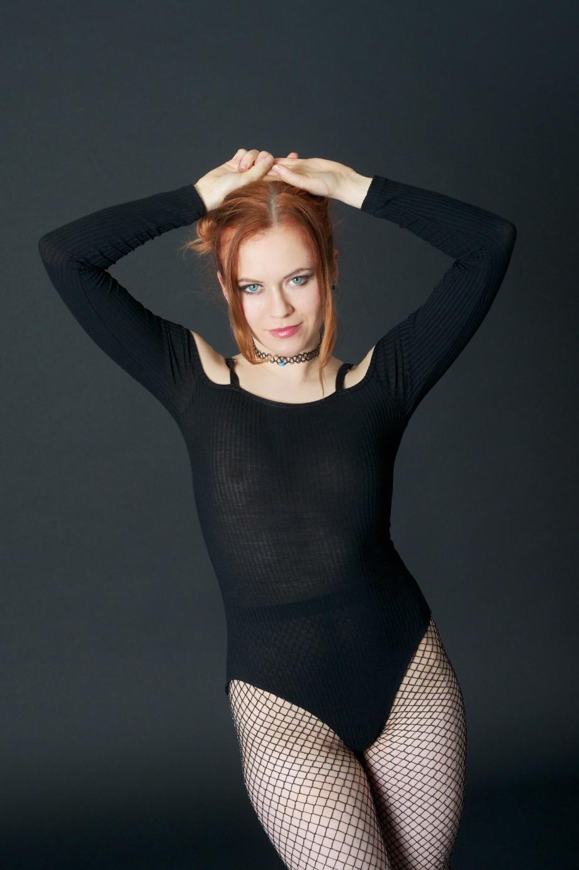 Roksi, Applecore, Cork, Model, Studio, Photoshoot, Glamour, Portrait, red hair, topless, implied, see thru