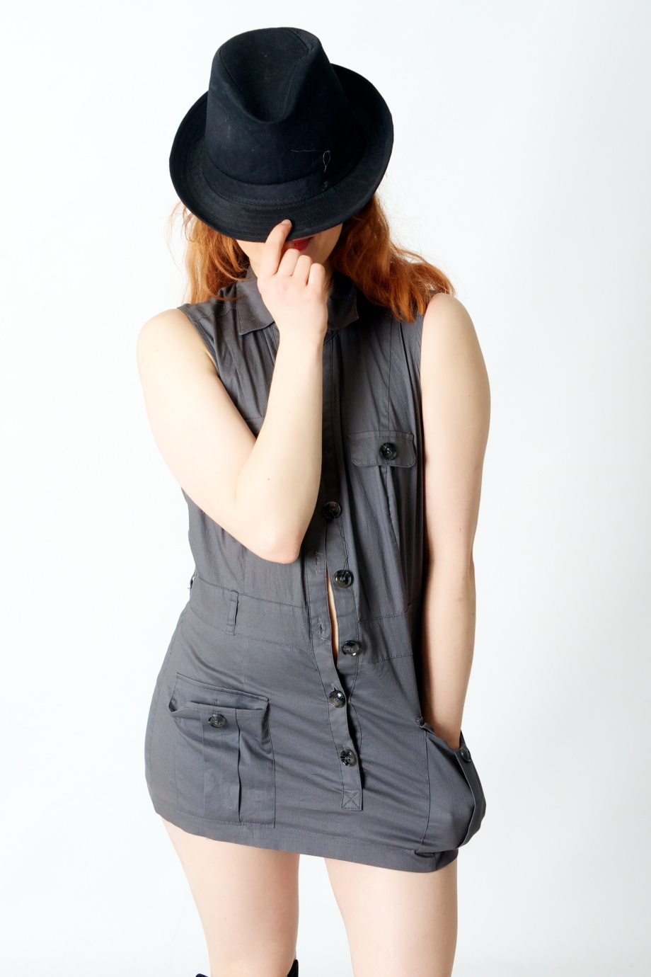 Roksi, Applecore, Cork, Model, Studio, Photoshoot, Glamour, Portrait, red hair, hat