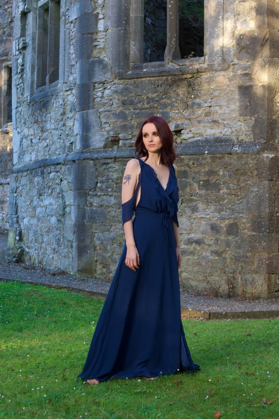 blue dress, Fashion, Boohoo, Mallow, Castle, Glamour, Photoshoot