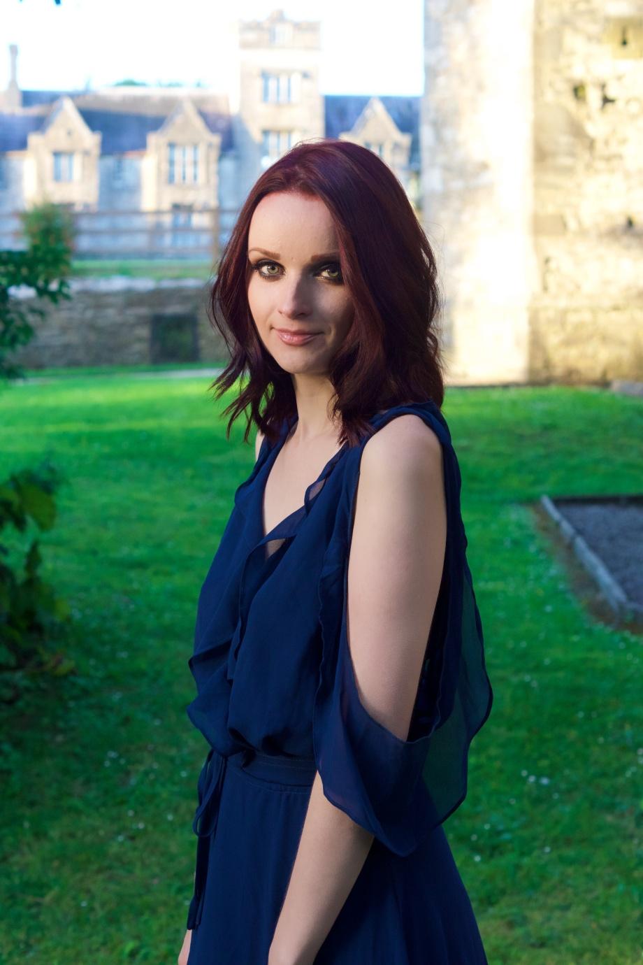 blue dress, Fashion, Boohoo, Mallow, Castle, Glamour, Photoshoot
