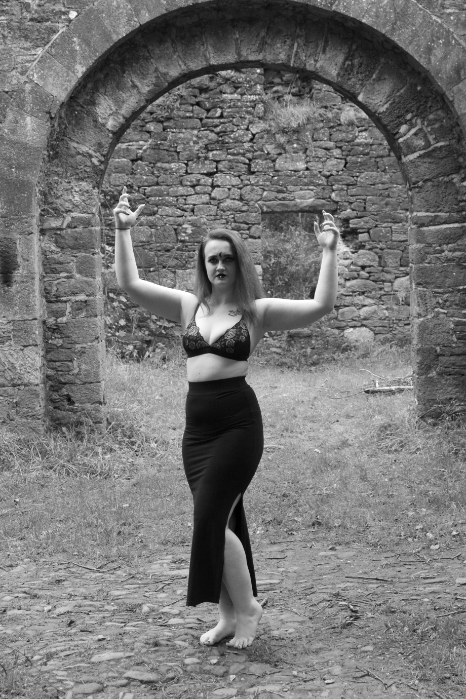 Kashmira, black and white, Carey's Castle, glamour, cork, vintage