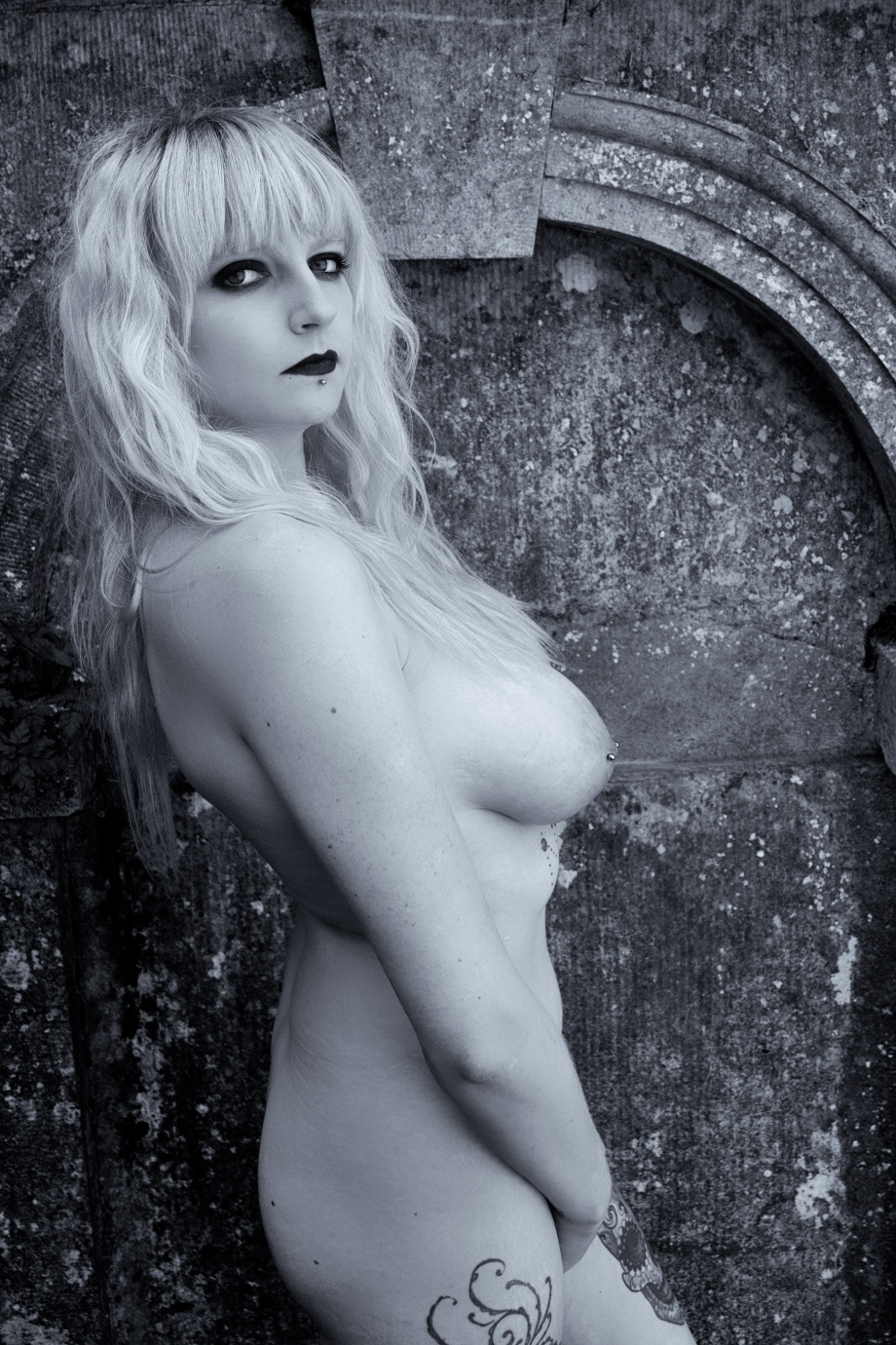 Glamour, boudoir, alternative, ruins, cork, ireland, gothic, topless, nude