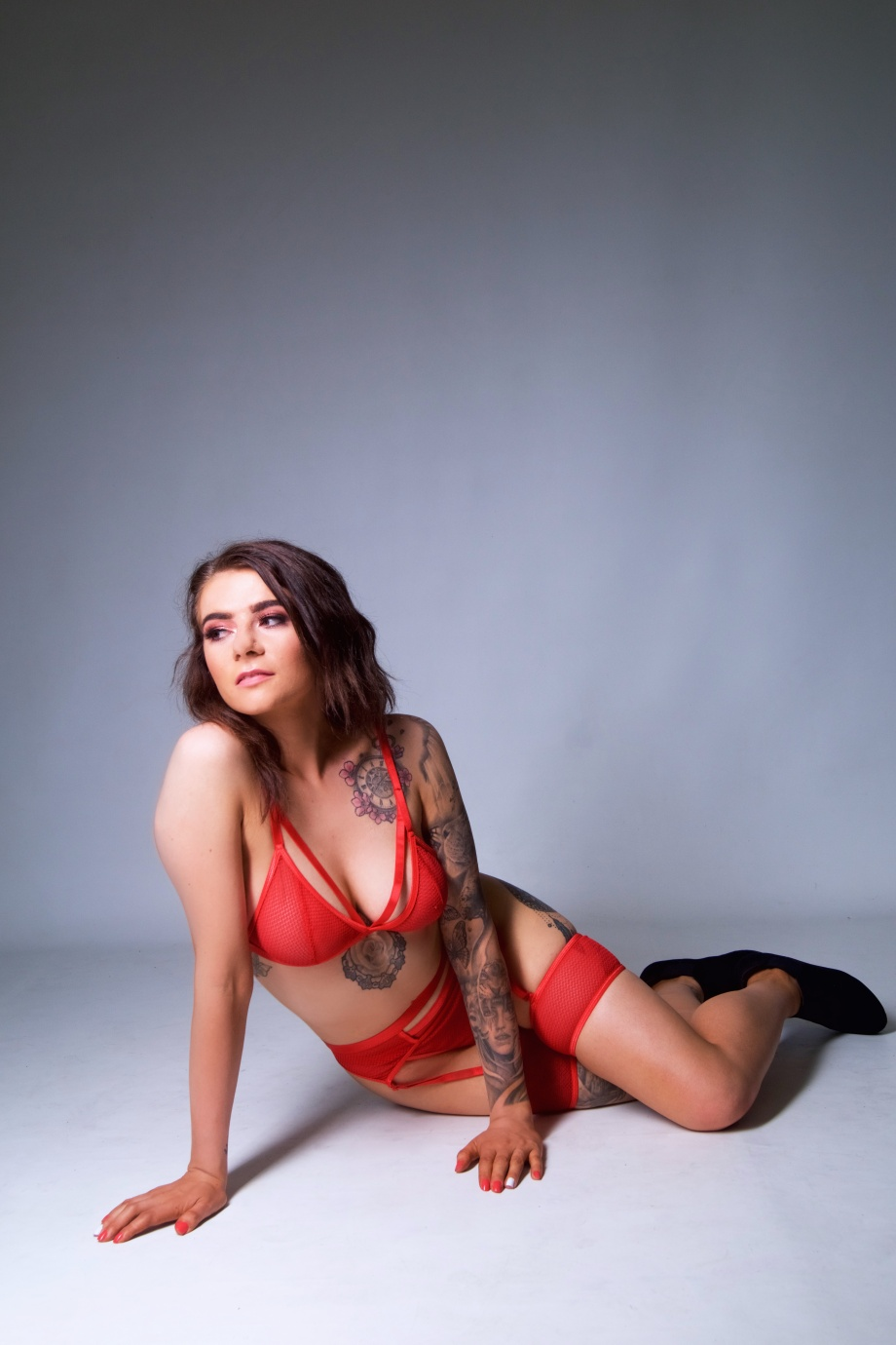 glamour, cork, studio shoot, boudoir, tattoos, lingerie