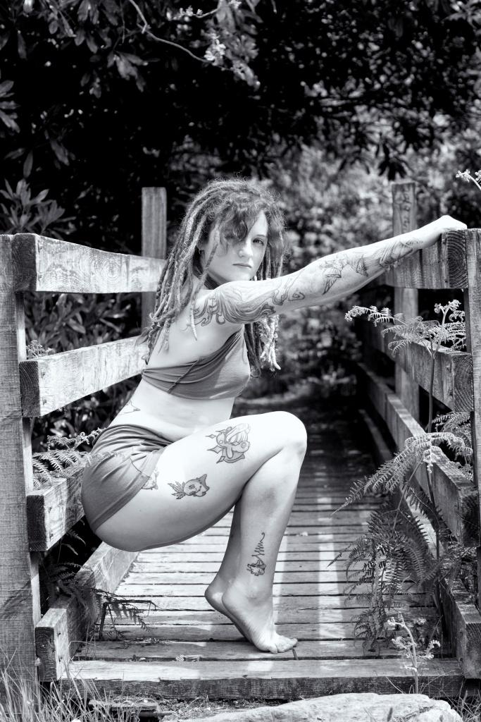 Forest Shoot, Alt Glamour, Cork, Ireland, black and white