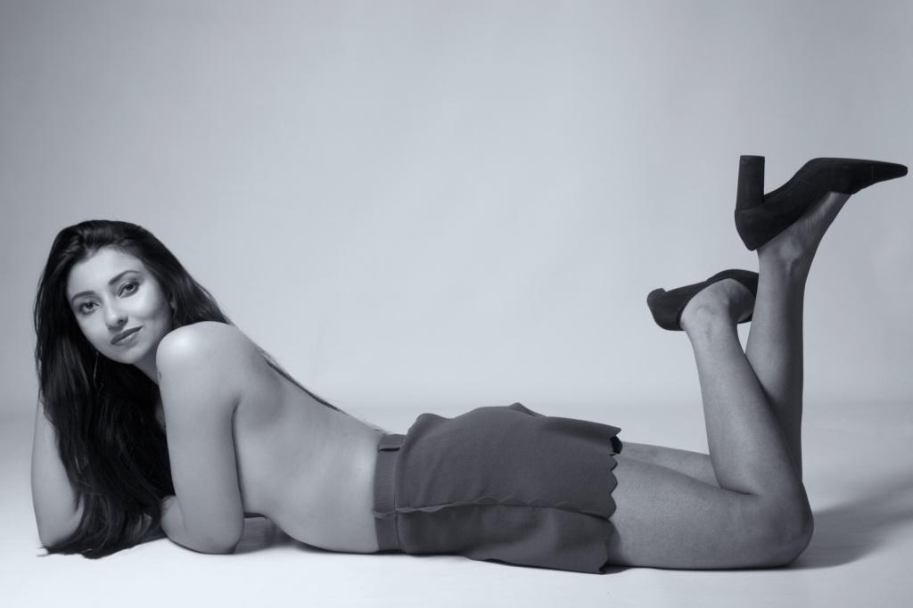 glamour, studio shoot, cork, ireland, black and white, topless, implied