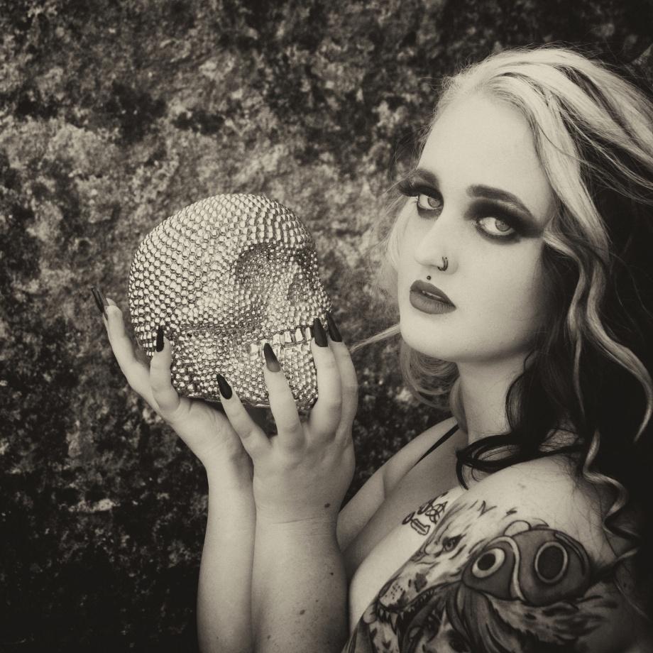 death and the maiden, alternative glamour, cork, ireland, skull, tattoos